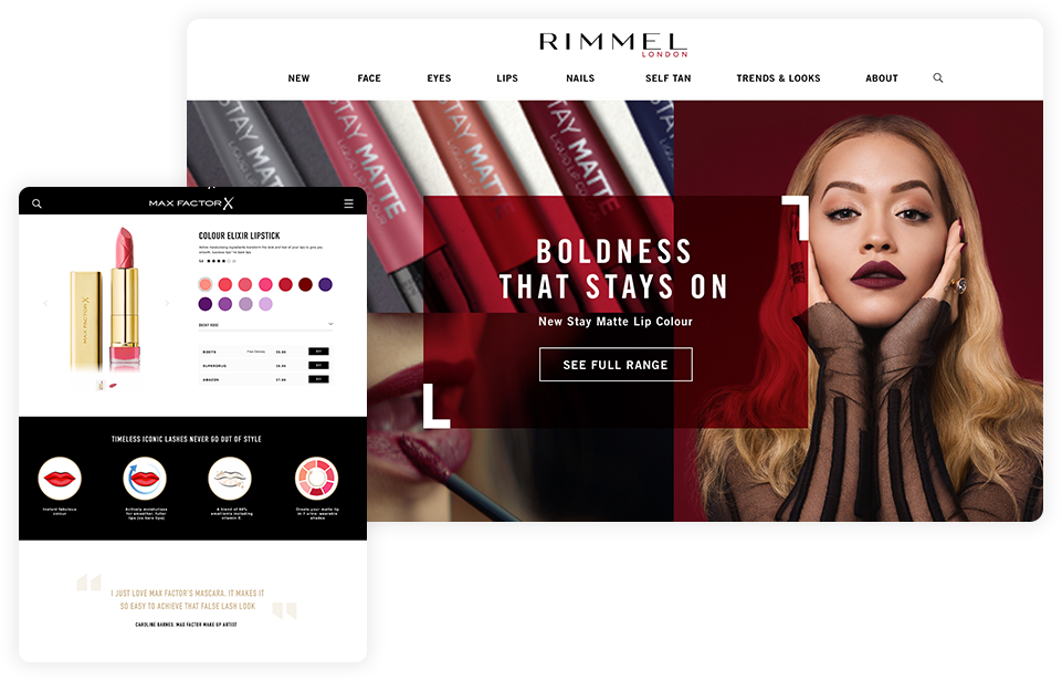 Max Factor and Rimmel sites